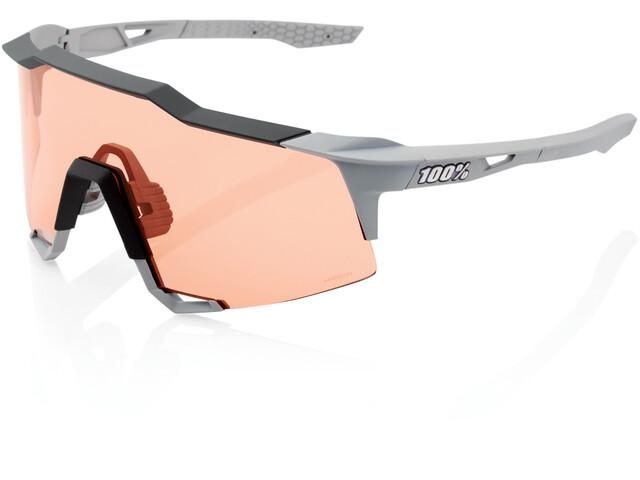100% Speedcraft Occhiali alti, soft tact stone grey/HD multilayer/hiper